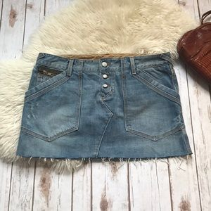 Joie Denim Mini Skirt